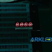 ARKLED Display Modules - LED Character and Numeric Optocoupler- LED 7-SEG 10MM CA RED RHD