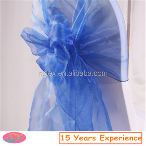 Good quality sheer organza chair sashes for wedding party banquet decoration