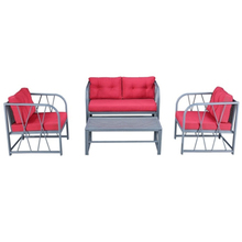 Durable fireproof outdoor garden patio furniture gray casting aluminum table and chairs single/double sofa set designs