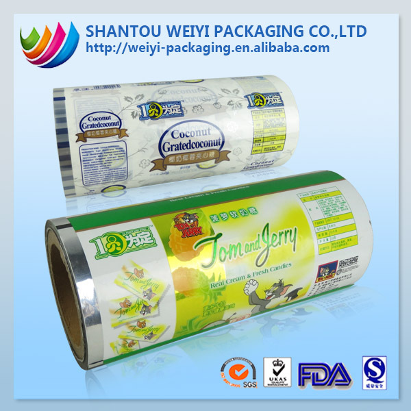 Custom laminating roll film for brands potato chip