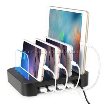 5V 4.8A 6.8A cell phones USB adapter 4 multi ports charging dock station
