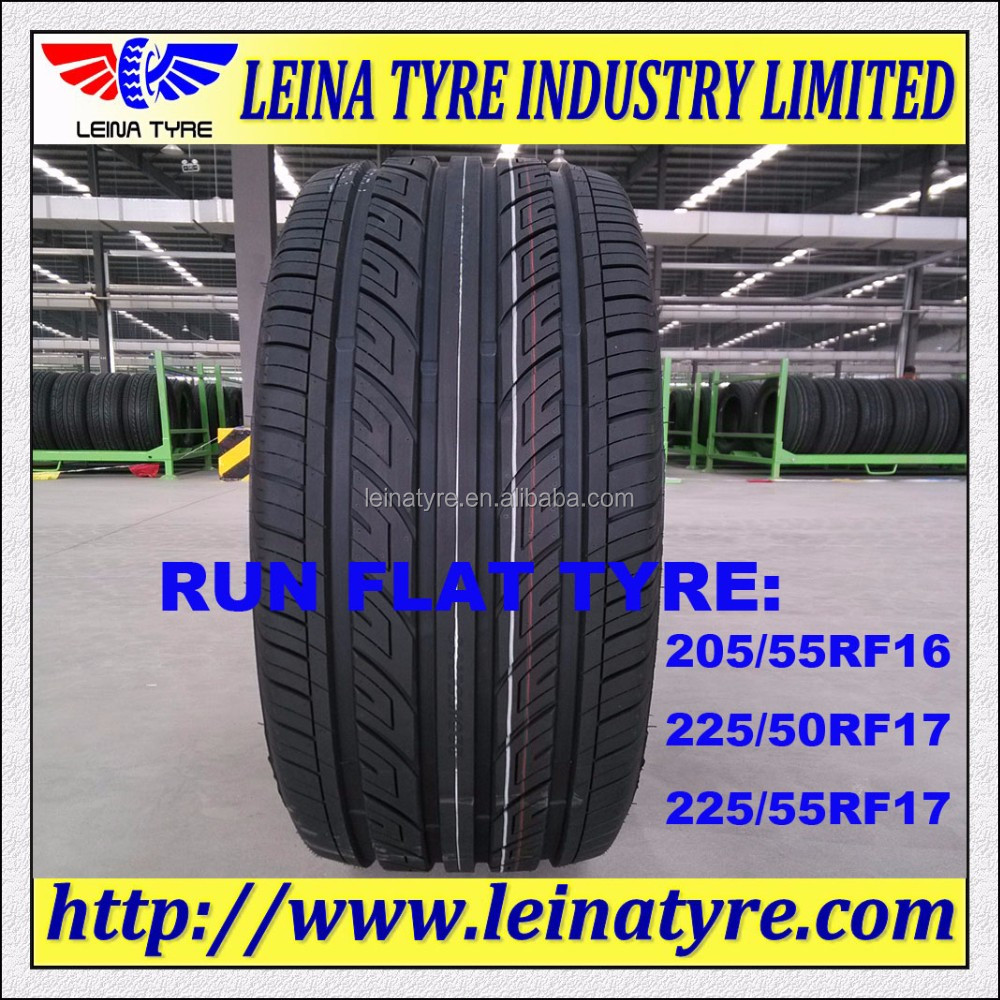 Tubeless radial car run flat tyres 225/50R17