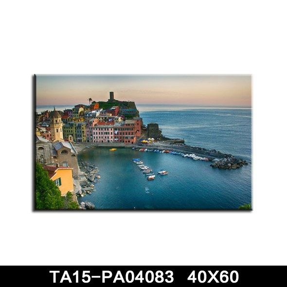 Beautiful acrylic landscaping paintings on canvas landscape miniature model making wholesale