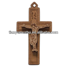Jesus standing wooden crosses for promotion