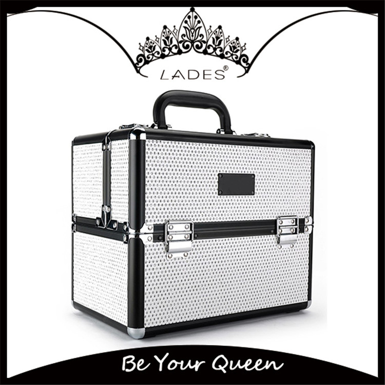 LADES Top Quality Makeup Box White Color Professional Beauty box Makeup vanity case