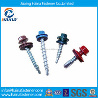 color paint Hex Head Self Tapping Roofing Screw with EPDM Washer