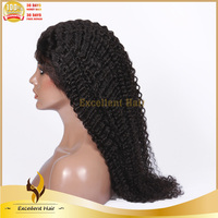 Cheap 100% Kinky Curly Virgin Chinese Remi Human Hair Half Wigs