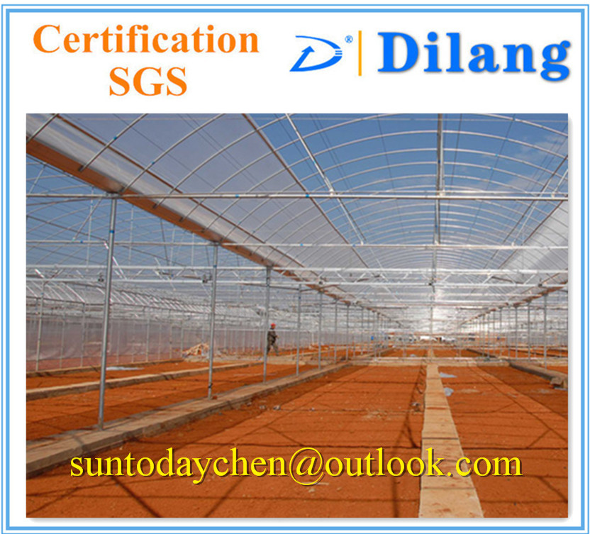 Wuxi Dilang Brand long span agricultural greenhouse roofing sheet with polycarbonate material