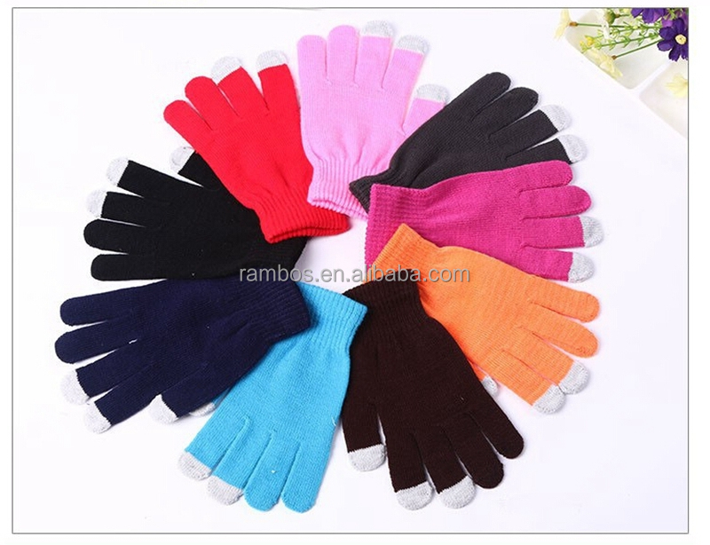 Winter Dresses Women Men Winter Gloves Touch Screen Hand Knitted Gloves for iphone 7 Plus for Samsung Smartphone