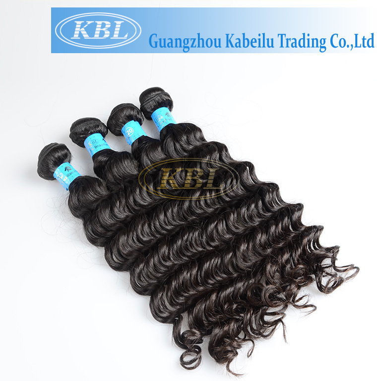 Hot selling wholesale KBL hair deep wave human hair for braiding,gray hair