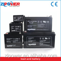 Deep cycle rechargeable AGM storage battery
