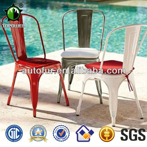 metal dining chairs outdoor garden chair colorful chair