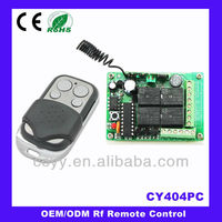 Learning Code & Rolling Code Four-way Wireless Home Transmitter And Receiver Switch CY404PC+CY026
