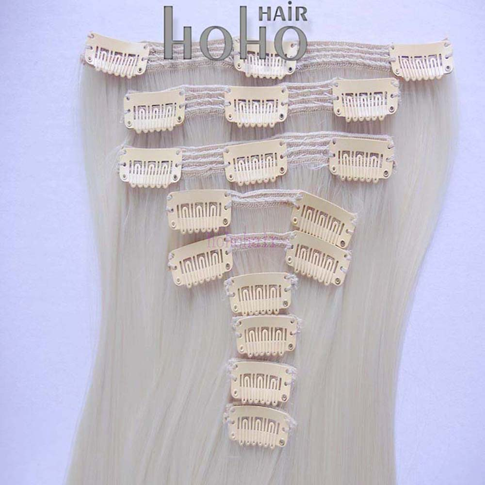 Human remy 100% brazilian hair clip-on 150g remy clip in hair extension