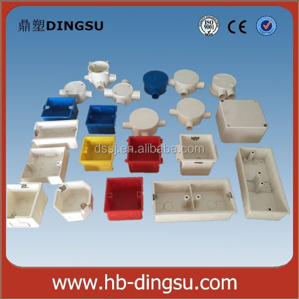 Electrical PVC Pipe Fitting Four Way Circular Box