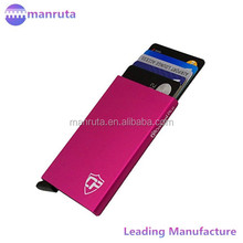Anti-thief Silk printing Aluminium Foil Rfid blocking card holder