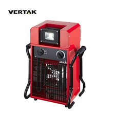 VERTAK Wholesale stainless steel electric industrial fan <strong>heater</strong> with 10W LED light