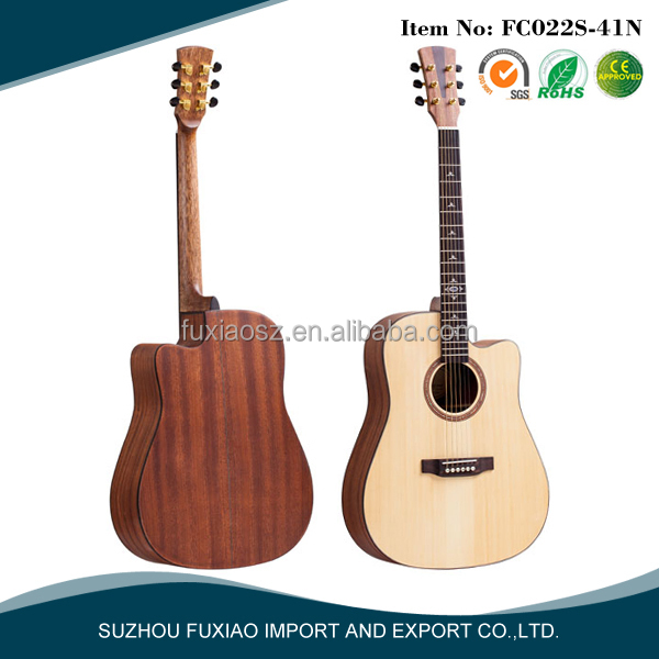 solid spruce top sapele side cutaway acoustic guitar