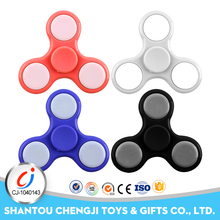 Newest plastic led flash spinning top magnetic desk toys Flashing Hand Spinner