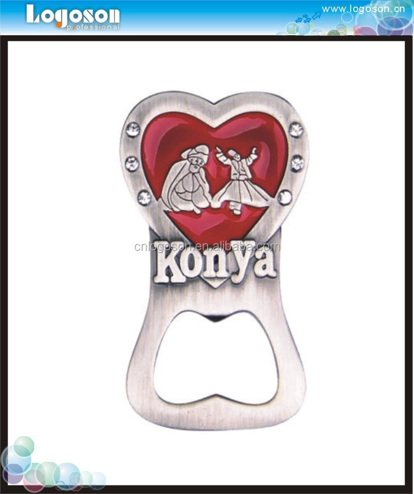Custom souvenir gifts 3d fridge magnet bottle opener