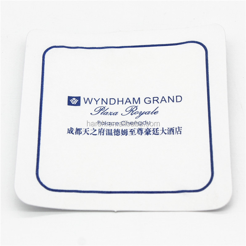 Custom printed cup mat in paper material hotel cup coaster
