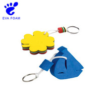 Fashion simple design floating eva foam keychains/keyring