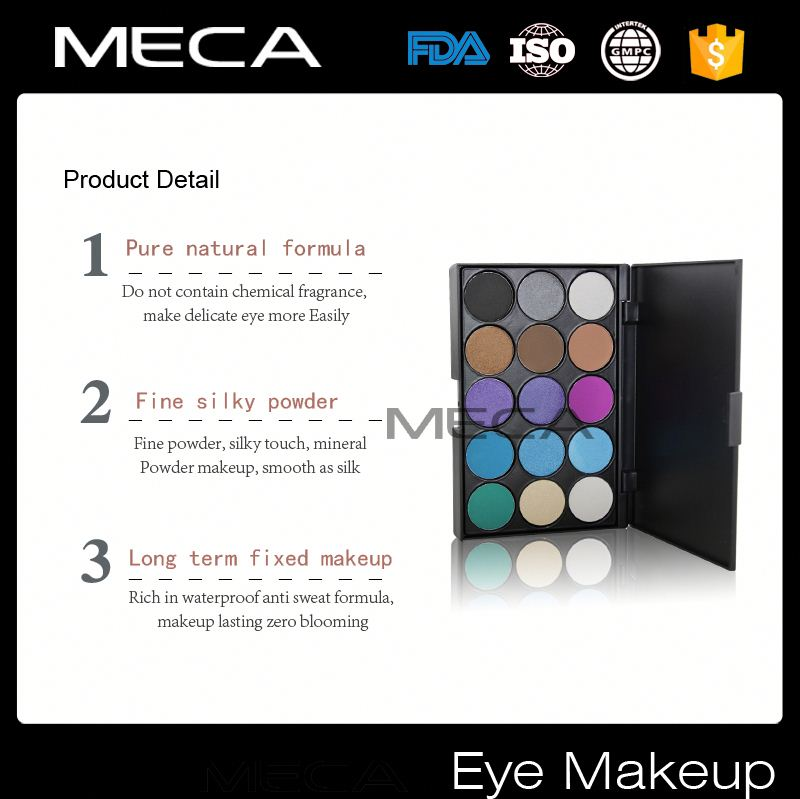 mixed color eyeshadow palette High Quality no Logo 15 Colors#3 eyeshadow Make up Palette