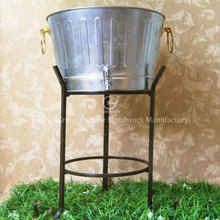 home decoration outdoor matte gold ice bucket with stand
