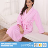 Women Fluffy Kimono Collar Hotel Knee Length Bathrobe Sets/Hotel Heavy Terry Cloth Bathrobe 100% Cotton