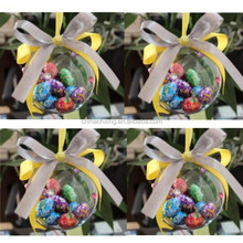 clear plastic ball ornaments bulk for candy shop decoration