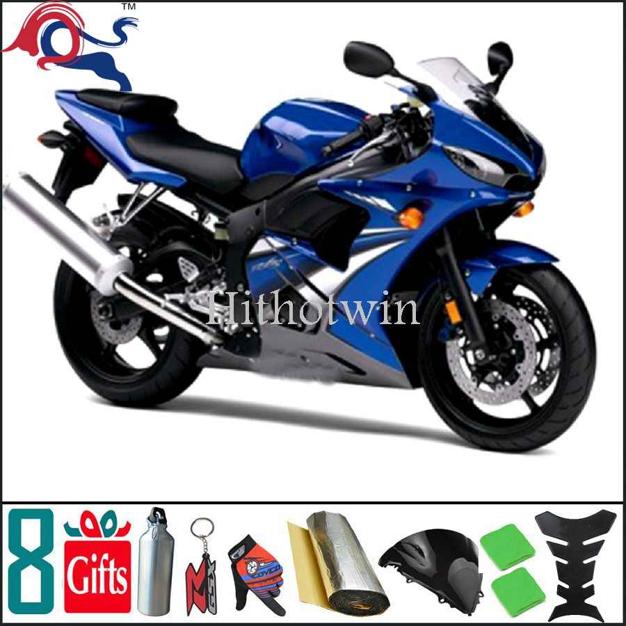 Article cowling fitting coverFor yamaha blue Fairing ABS Plastic fairing Bodywork Kit R6 2003 2005 R6S 2006 2009