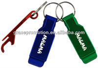 Aluminum Multi-purpose Bottle Opener Keyring