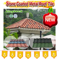 KINGBECK 2016 China hot sale colors sheet roofing stone coated roof tile aluminum zinc roofing sheets