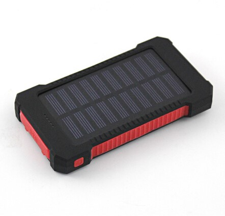 Shock drop Resistance Waterproof Solar Power Bank 10000mah Dual USB Outdoors Design Portable Solar Charger for Hiking