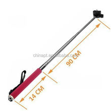 Wired Control Extendable Handheld Selfie Monopod Self Portrait with Adjustable Phone Holder