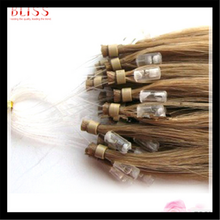 Top quality micro loop ring virgin remy European human hair extension, 1g per strand wholesale hair weave price