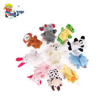 Family zoo stuffed animals making fingers puppets mini toy