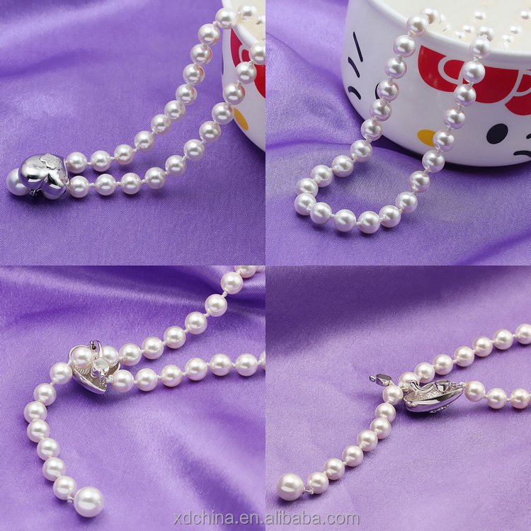 XD YSIP0348 Hot Sale Imitation Modern Pearl Necklace with Sterling Silver Findings
