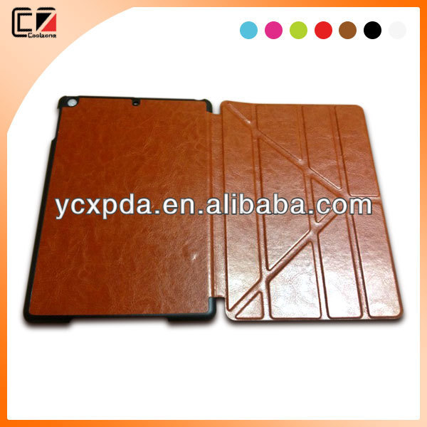 2013 new fashionable Hot press leather case for ipad Air,for tablet PC iPad case