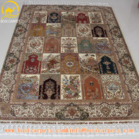 5.5x8ft Green series full of vigor persian carpet pure silk heres silk carpets price