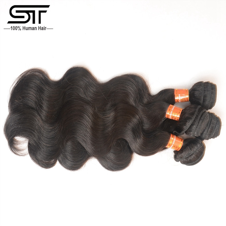 Hair Factory Best Selling Export Remy Hair Weave, Natural Color Full And Bouncy Body Wave Brazilian Virgin Hair