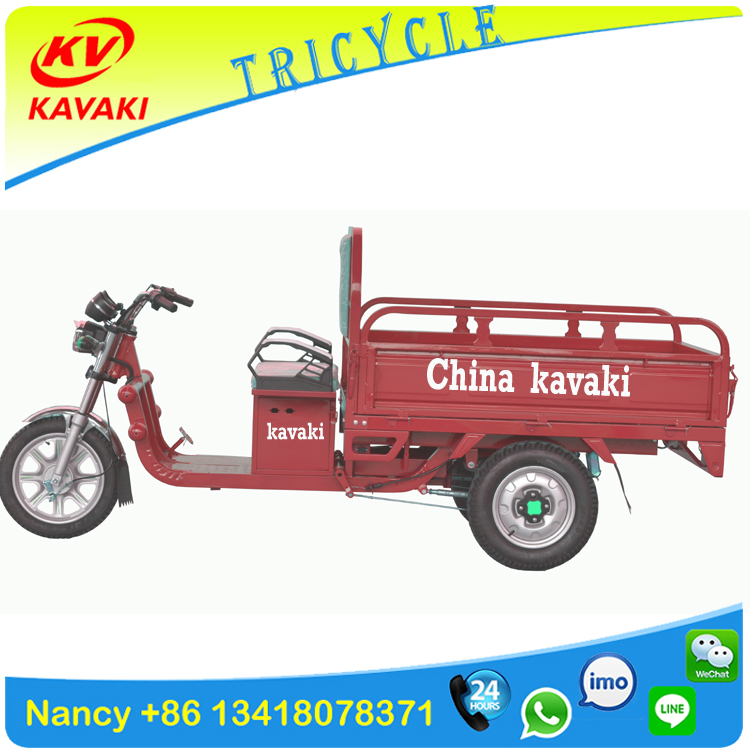 China KAVAKI factory 650W /900W 32AH adult electric cargo tricycle