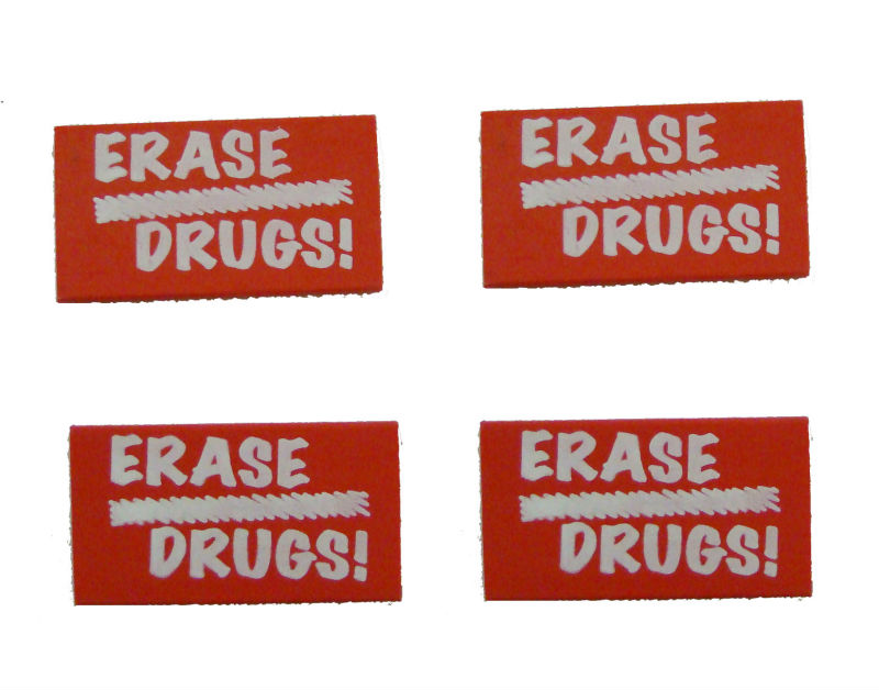personalized promotional Round printed eraser from zhejiang factory