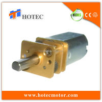 12mm dia micor DC geared 12VDC 100 rpm motor