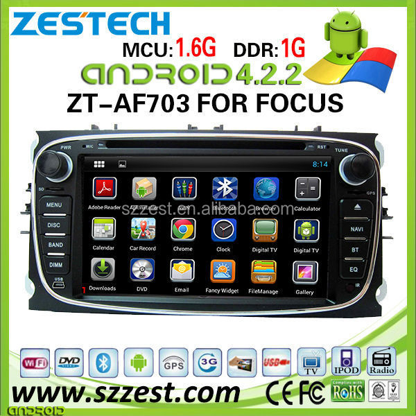"ZESTECH wholesale OEM 7"" Android 4.2 car dvd for FORD MONDEO android car audio system with WiFi gps MIC bluetooth"