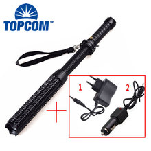 self defense weapons rechargeable led torch light expandable baton flashlight
