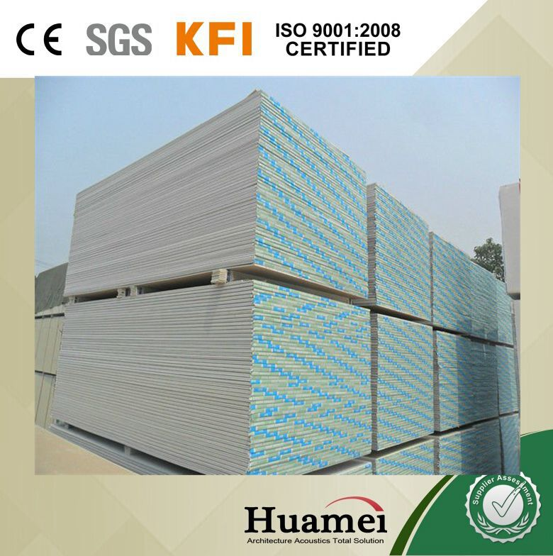For India 4'*6' Cheap Price Plasterboard / Drywall / Standard paper faced gypsum board