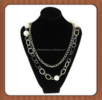 wholesale Silver open loop draping necklace for women