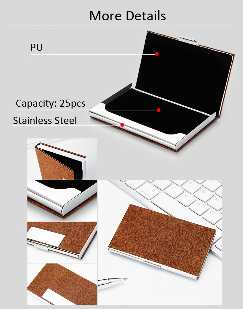Hot Sale Simple Leather Card Holder Flat Card Pocket PU Leather Credit Card Holder Case