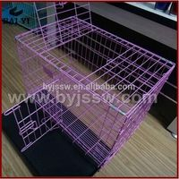 folding metal wire dog cage,pet cage With Removable Tray